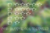 Feedback chart with stars — Stock Photo