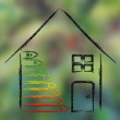 Green house and energy consumption performance — Stock Photo #77002283