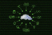 Concept of big data and cloud computing — Stock Photo