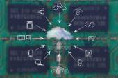 Concept de cloud computing — Photo