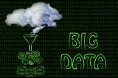 Grande volume de dados e cloud computing — Fotografia Stock