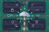 Koncept velkých dat a cloud computingu — Stock fotografie