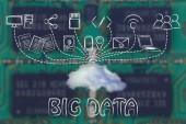 Concept van grote gegevens — Stockfoto