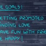 List of life goals — Stock Photo #77791046