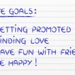 List of life goals — Stock Photo #77791268