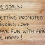List of life goals — Stock Photo #77791534