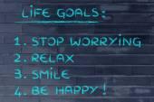 Happy lifestyle goals — Stock Photo