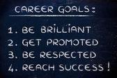Sucessful career goals — Stock Photo
