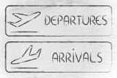 Departures and arrivals illustration — Stock Photo