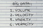 List of features of big data — Stock Photo