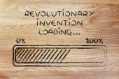 Concept of developing a revolutionary invention — Stock Photo