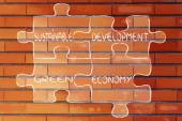 Ilustración de la economía verde y desarrollo sostenible — Foto de Stock