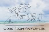 Her yerde iş kavramı — Stok fotoğraf