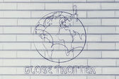 Being a globetrotter illustration — Stock Photo