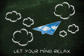 Let your mind relax illustration — Stock Photo