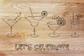 Let's celebrate illustration — Stock Photo