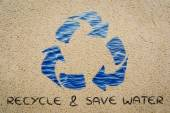 Recycle & save water illustration — Stock Photo