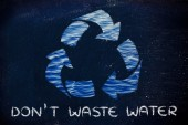 Don't waste water illustration — Stock Photo