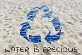 Water is precious illustration — Stock Photo
