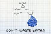 Illustration about avoiding water waste — Stock Photo