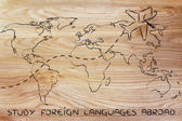 Study foreign languages abroad concept — Stock Photo