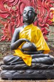 Shin Upagutta Statue in Thai temple — Stock Photo