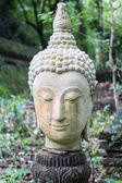 Head shot of buddha statue, Thailand — Stock Photo
