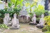 Estatuas de buda con cinco estatuas de brahmán — Foto de Stock