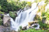 Mae Klang Waterfall in Chiang Mai Province, Doi Inthanon Thailand — Photo