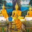 Golden Buddha Statue In Chapel — Stock Photo #57041609