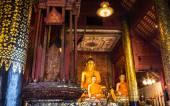 Oude Boeddha standbeeld In kapel — Stockfoto