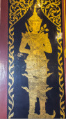 Thai Winkel Tür in Kapelle — Stockfoto