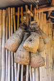 Bamboo eel trap norther Thai style  — Fotografia Stock