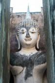 Ancient buddha statue — Stock Photo