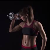 Kroppen sport en attraktiv kvinna — Stockfoto