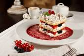 Appetizing french millefeuille dessert — Stock Photo