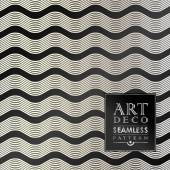 Art Deco seamless vintage wallpaper pattern — Stock Vector