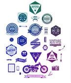 Etichette, icone e gli elementi di stile hipster — Vettoriale Stock