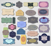 Set retro vintage ribbons and label — Stock Vector