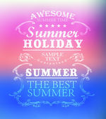 Elements for Summer Holidays — Stock Vector
