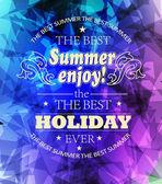 Elementi per vacanze estive — Vettoriale Stock