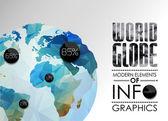 Vector world globe, triangular map of the earth — Stock Vector