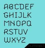 Graphic Alphabet Set — Stock Vector