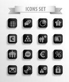 Set di icone web — Vettoriale Stock