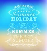 夏の休日のための要素 — ストックベクタ