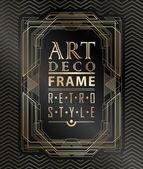 Art deco geometric — Stock Vector