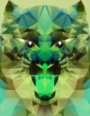 Abstracto tigre poligonal — Vector de stock