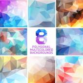 Set of abstract polygonal background — Stock Vector