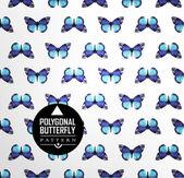 Farbe-Schmetterling fliegen — Stockvektor