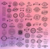 Conjunto cintas vintage retro y etiqueta — Vector de stock